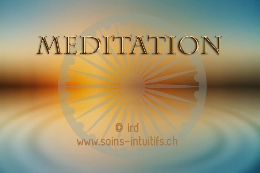 Atelier Méditation – Intention  :  Jeudi 28 juin 2018