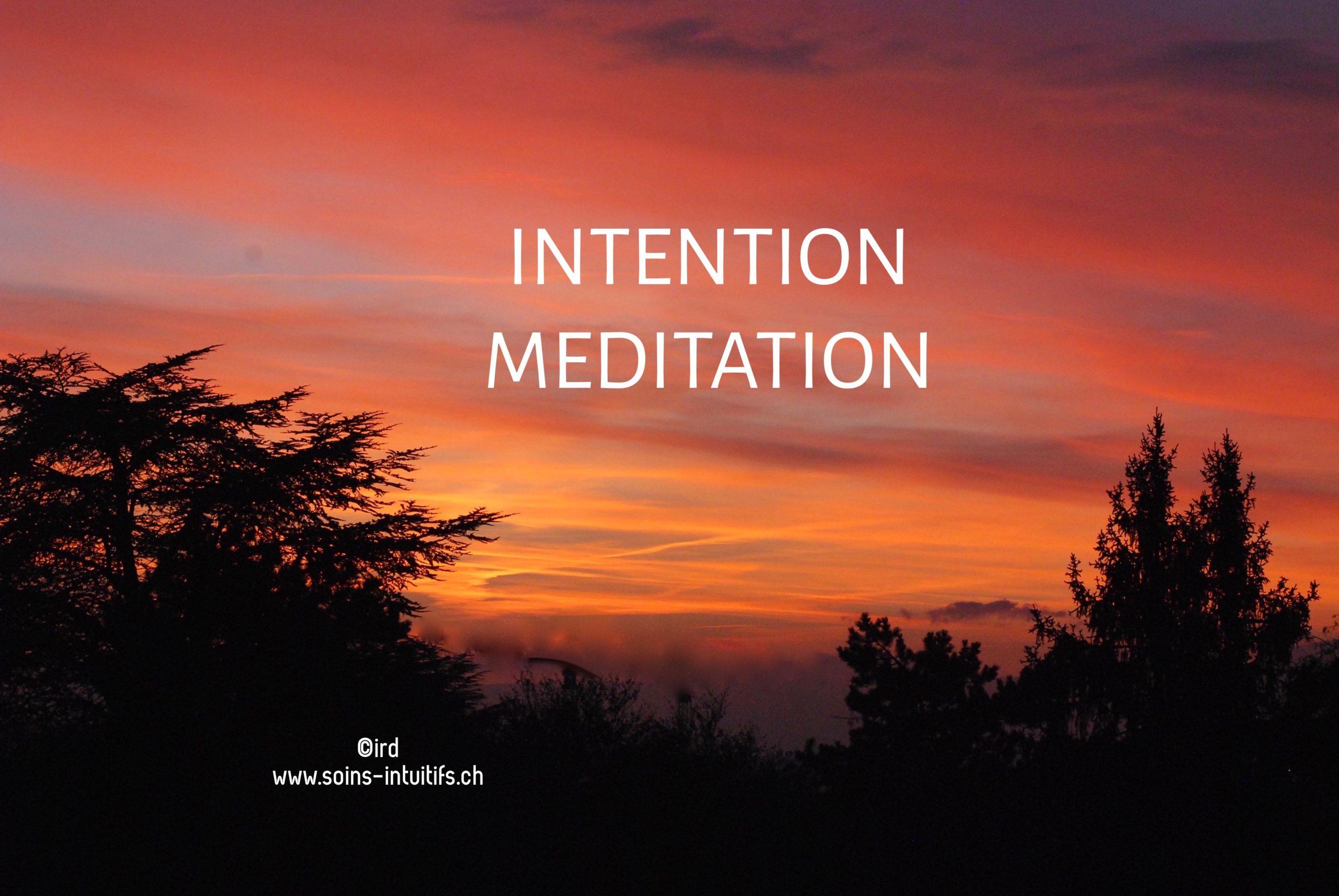 Atelier Méditation - Intention  : Jeudi 15 novembre 2018