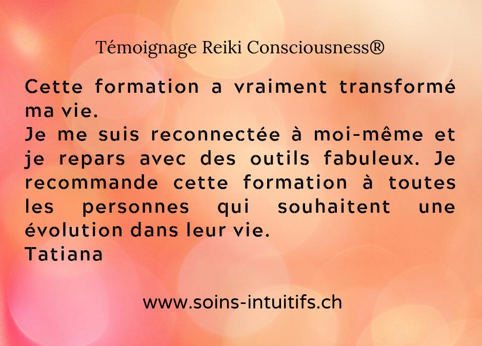 Reiki Consciousness témoignage